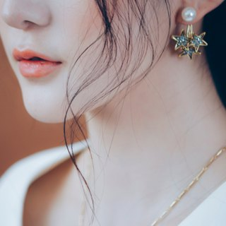 COR-DATE-stars piled up in the sky - wear earrings before and after