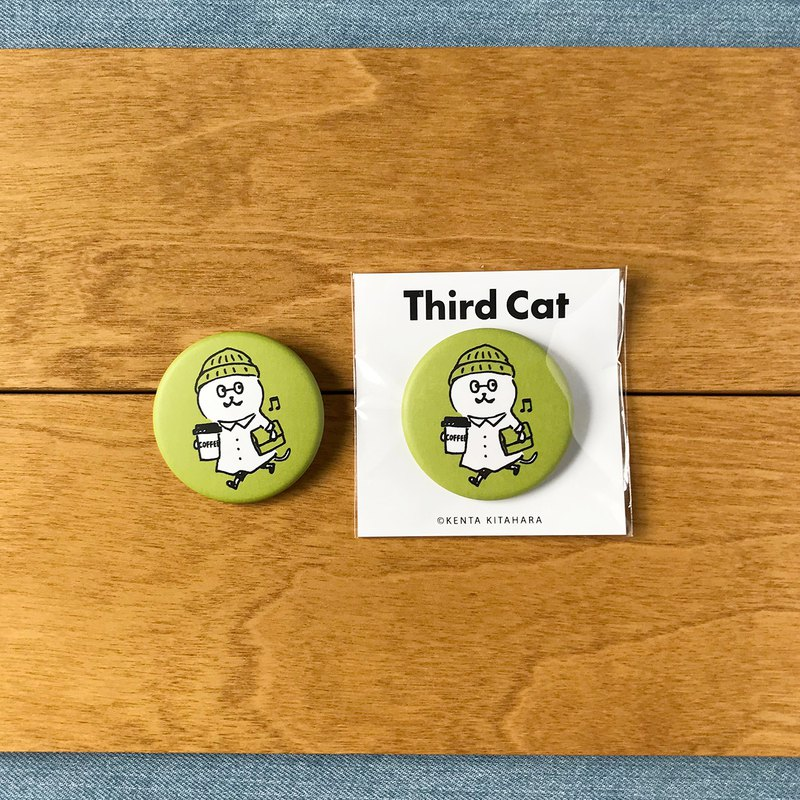 Third cat can badge 【GREEN】