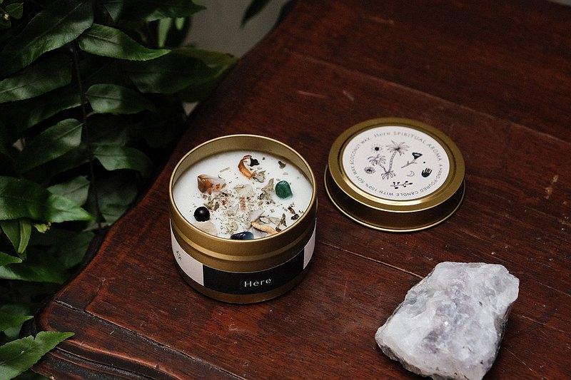 CLEAR&CREATE 水晶花草能量香氛蠟燭90g 白鼠尾草