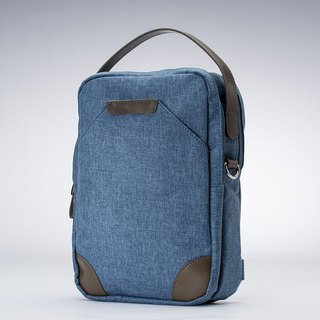 Amore Aijiadanni Walker Series Light Traveler Three Shoulder Bag Gray Blue