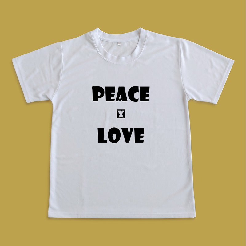 Moisture wicking shirt _peace and love
