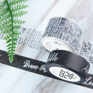English handwriting paper tape Mr. Eggplant x own printed joint name