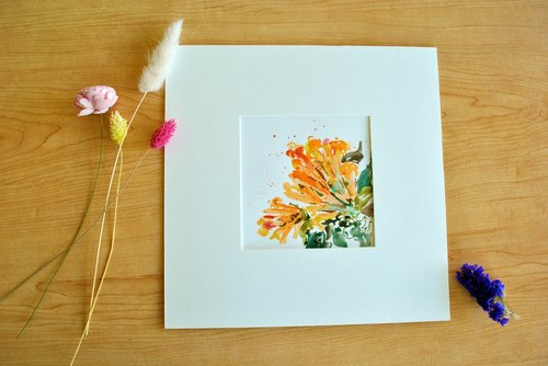 Artistic painting Flower painting Watercolor