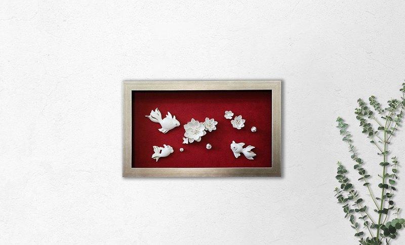 1300 Toy's | 陶瓷壁飾 | 金玉滿堂 富貴蓮年壁飾