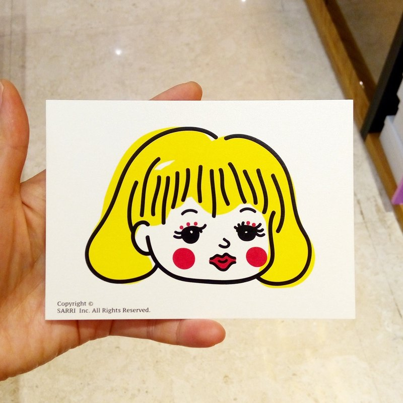 """Doll"" postcard birthday card design coloring illustration picture card universal card art fine arts modern lover love special fun strange weird cute taiwan yellow fun funny eye-catching tide art sequins flash cool different famous local foreigne"