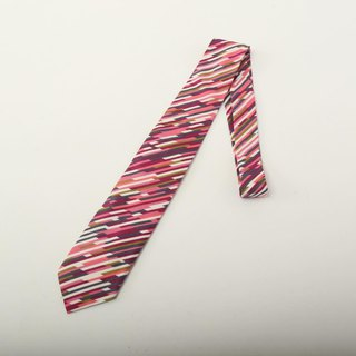 color bars pattern tie necktie