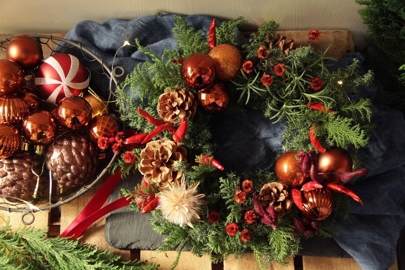 Christmas red festival sense Christmas wreath Christmas gift exchange gift