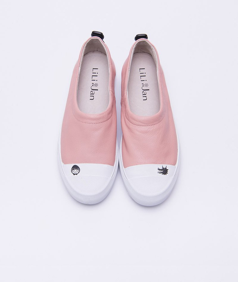 [Fairy charm] the first layer of leather elastic shoes mouth story shoes _ red hat powder