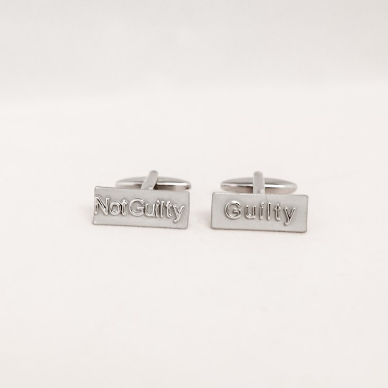 Lawyer - Guilty / Innocence Cufflinks GUILTY NOT GUILTY CUFFLINK