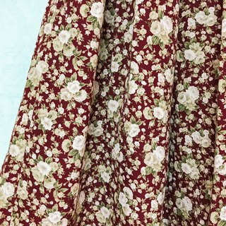 Skirt / Burgundy Floral Knee Skirt