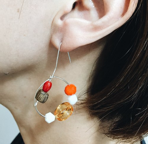 Sculptural Earrings - Infinite Loop