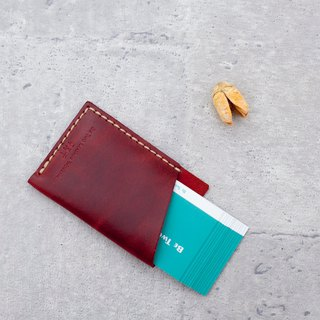 Be Two 口袋 Pocket Business Card Holder / Leather Carrying Card Case (You Design)