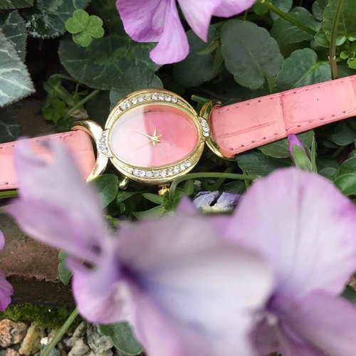 【Lost And Find】elegant Natural  Rhodochrosite watch