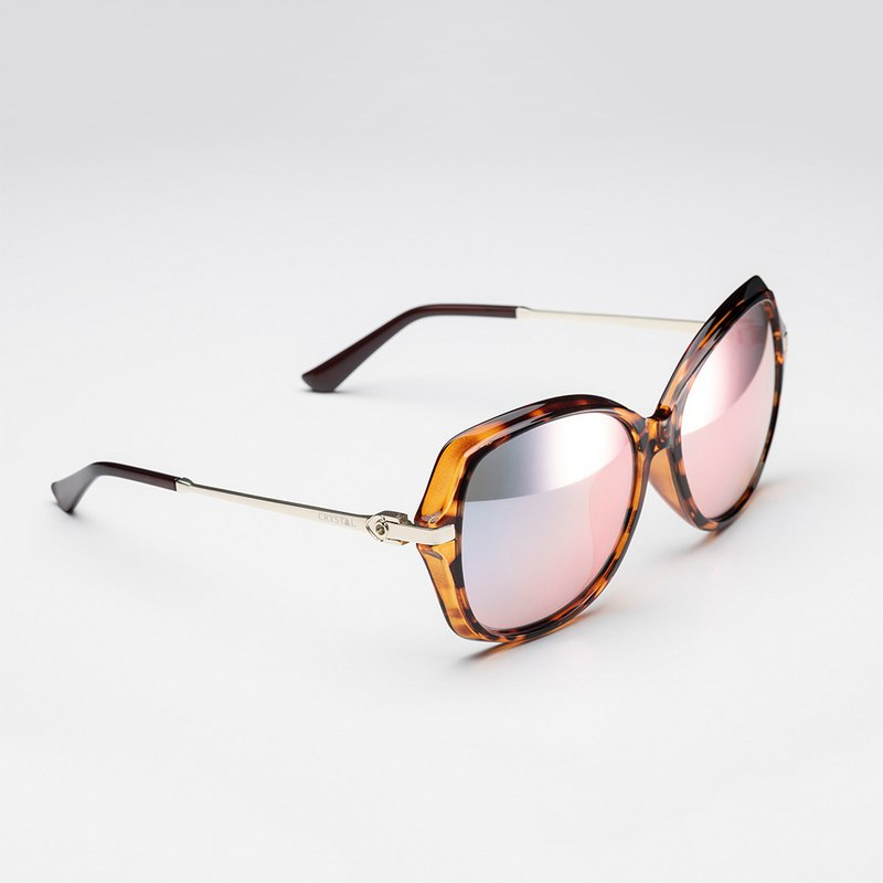 Crystal patent mirror | 15D butterfly 玳瑁 | bright glass polarized sunglasses