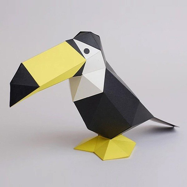 Bog craft three-dimensional animal paper - toucan Ss small stand-up TINY