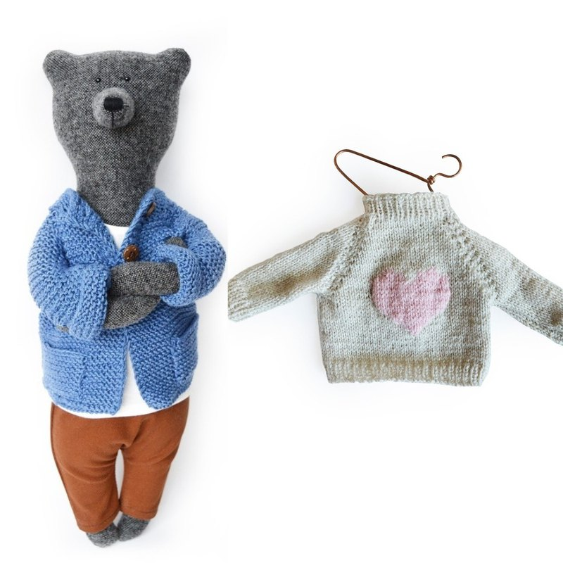 PK bears | Martin Bear 40cm + Love Sweater (NT880) I Handmade Fashion Bear I
