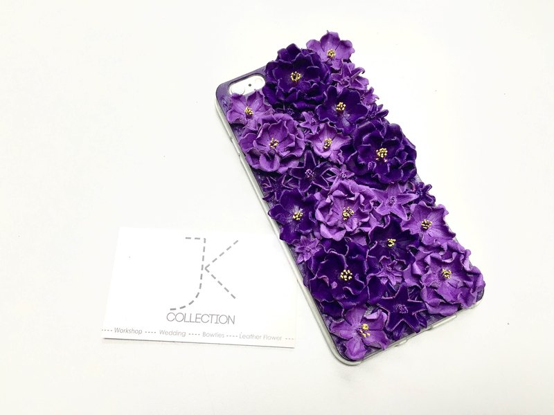 iPhone 6 / 6s plus gorgeous version purple leather phone shell cherry