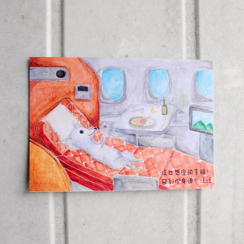 Wang Xing people | fly to your side pet series postcards