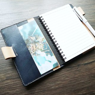 艺创小室 | Customized vegetable tanned leather hand-stitched color two-color book cover notebook