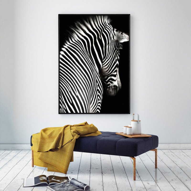 Zebra II - living room painting decoration / hotel painting / space design / restaurant / Nordic painting / bedroom decoration