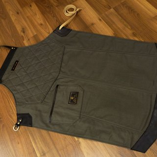 Canvas Flange Pattern Apron (Gray Army Green)