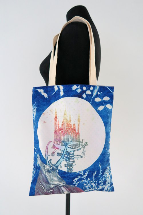 "Sarah Tse ""My dear castle"" tote bag"