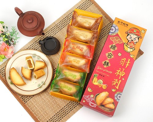 Taiwan Features Souvenir Gift -Taiwan modeling Taiwan Good God series*Integrated Crisp*Mid-Autumn Festival gift / give as gifts for personal use issues / Pineapple cake ※ Taste: Fortuna mash ※