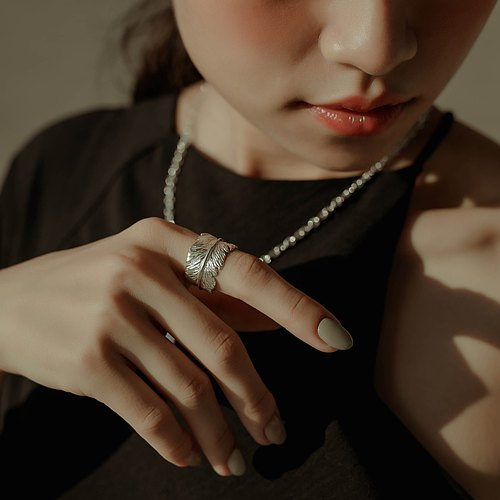 zo.craft feather ring / 925 sterling silver