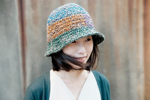 Braided bell stitching wool hat - ancient stationery shop