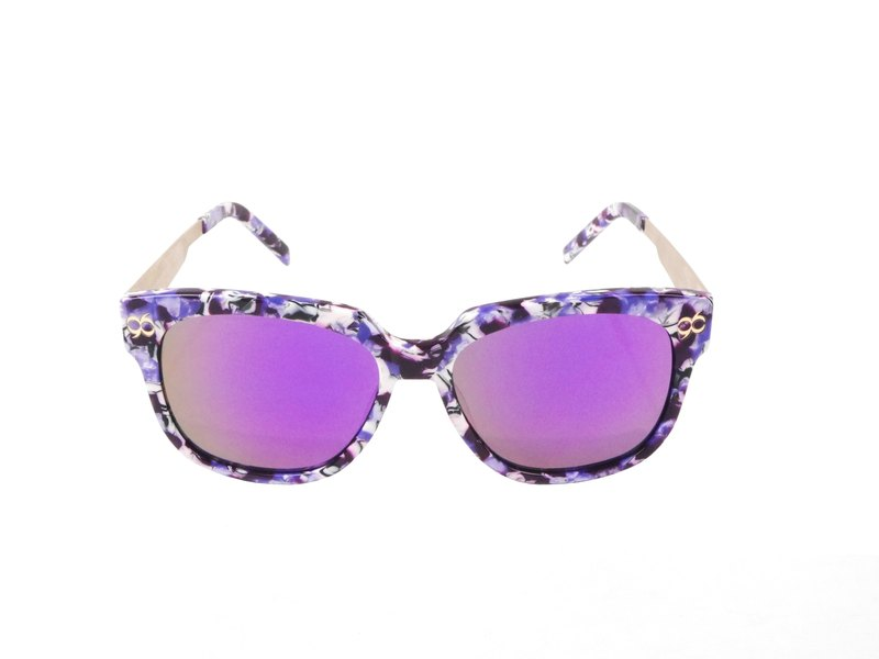 * try at home, free appointment in * [YUYU-CHANGCHIAYU] MAEBLE stylish mirror sunglasses - Marble Purple
