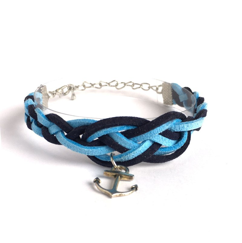 Handmade Braided Sailor Knot Bracelets - navy blue limited