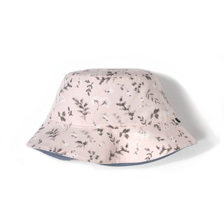 Ink flower double-sided fisherman hat - light pink