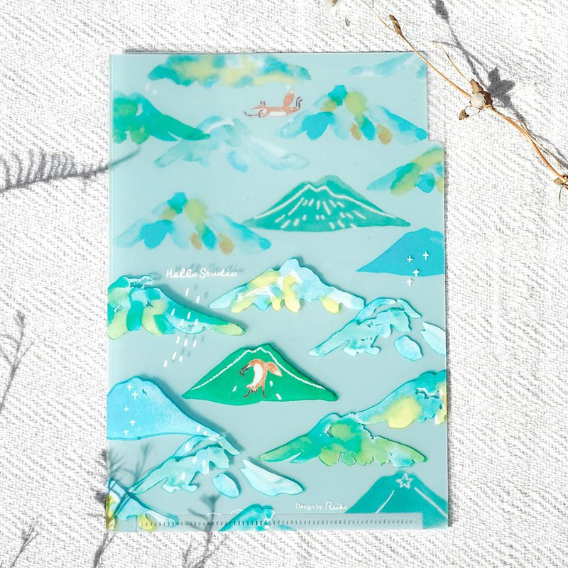 Transparent mountain range │A5 multi-layer folder