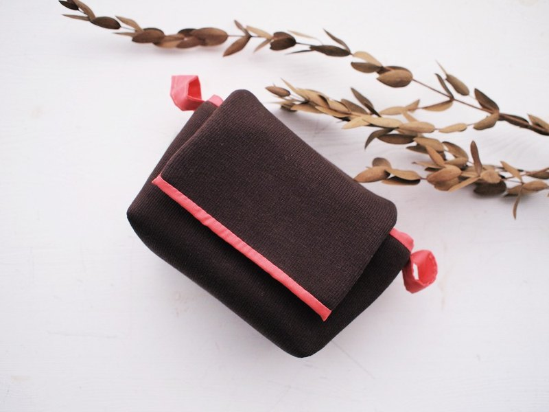 Hairmo simple simple activity buckle zipper camera bag - coffee (monocular/class monocular/mobile power)