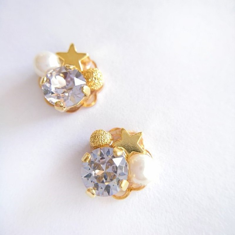 Sparkling Star Earrings (Mauve)