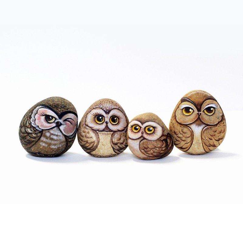 Goody Bag Owls doll stone art set.