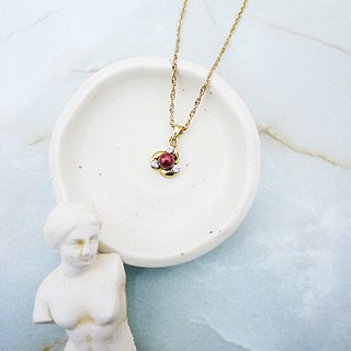 Paris wind simple retro necklace (burgundy)