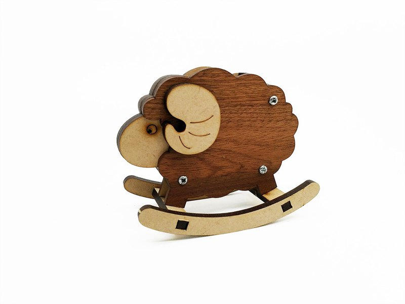 Roll Musen Live Museum - Small Animal Pen Holder (Little Sheep) DIY Log Sticker Puzzle Exchange Gift