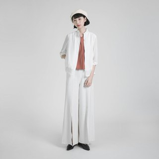 Extend extended wide pants _8SF202_ white stripes