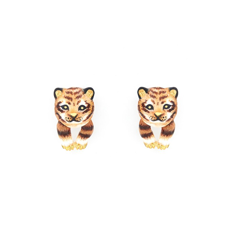 African Baby Tiger Earrings