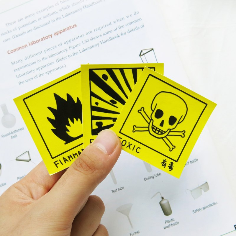 Lifelong Learning series: Hazard warning label Sticker (Big)