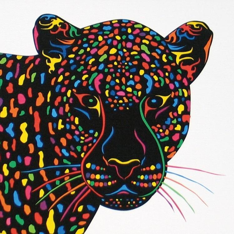 Painting illustrations Art leopard leopard leopard A4-k