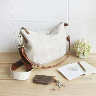 Cross-body Sweet Journey Bags M size Hand Woven Hemp Natural Color
