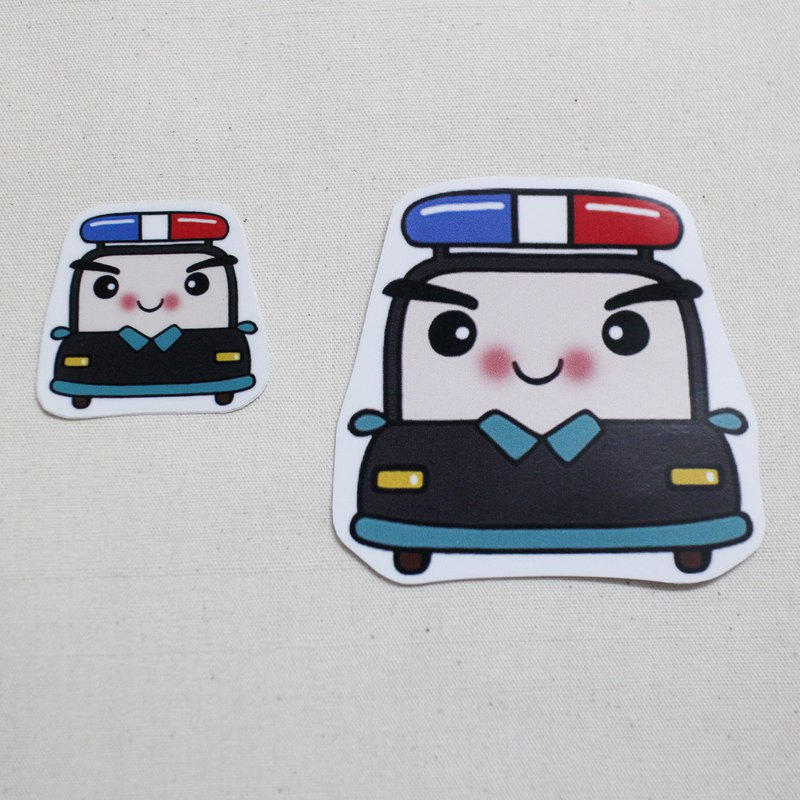 Waterproof sticker _ small car 07 (police car)