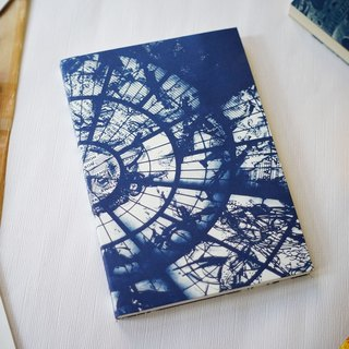 Handmade blue drying notebook - A5 large size - World Zenith