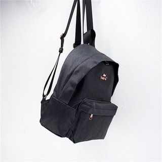 Aristocat Waterproof Heavy Denim Mini Backpack / Black