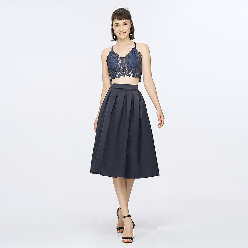 Sugar Lily珠光緞面及膝圓裙