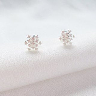Winter Snowflake Sterling Silver Earrings Allergy Free