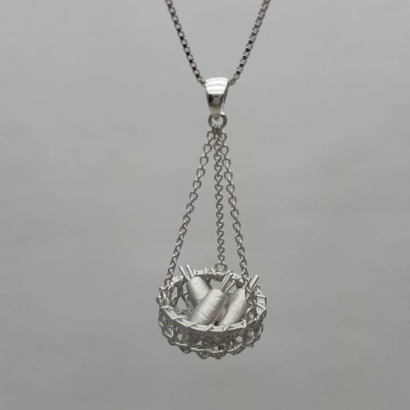 Hong Sheng. Happiness harvest .925 sterling silver 墬 necklace