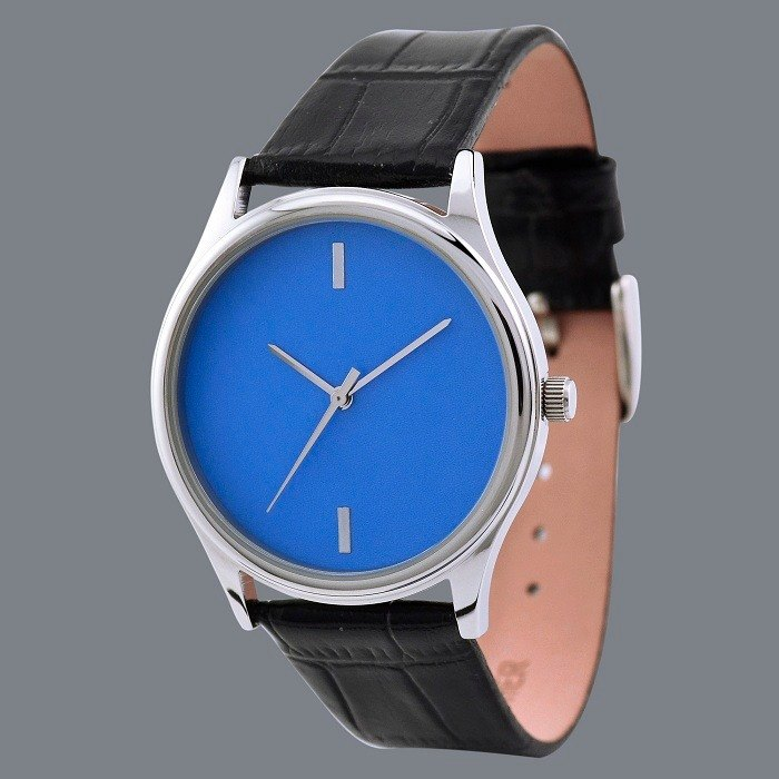 Simple Watch (Blue) Free Shipping Worldwide